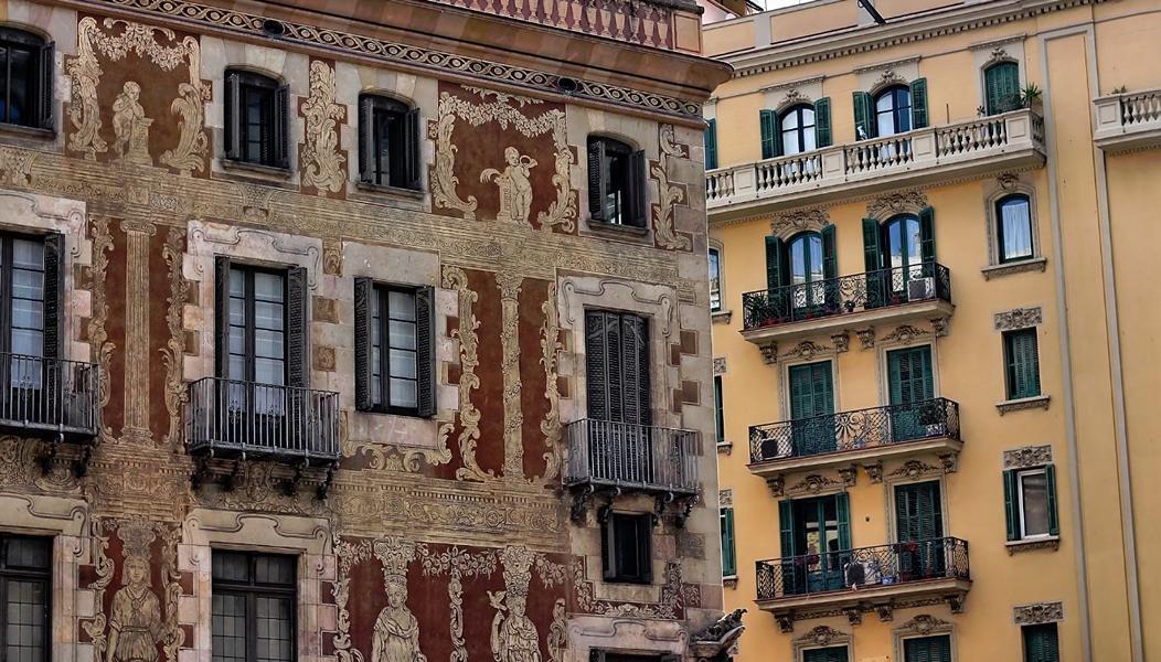 Barcelona Gebäude Ausschnitt